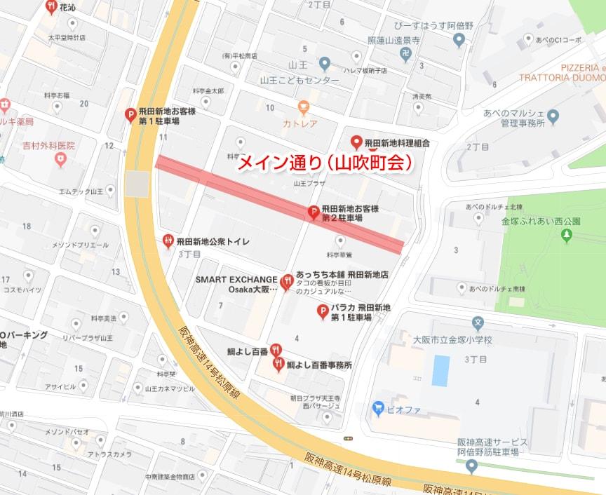メイン通りの場所・地図