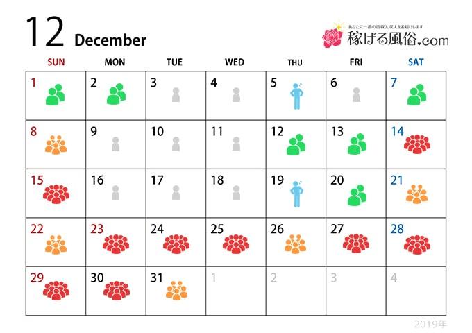 12月の繁忙期 - 繁忙期指数:★★★★★